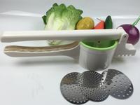 Free Sample hand operated juicer extractor mini handy citrus juicer potato masher manual fruit vegetable food soup processor