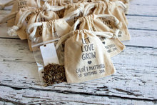 Wildflower Seed Sack, Drawstring Cotton Seed Bag