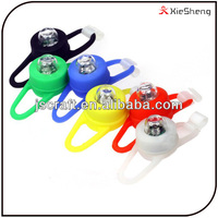 Outdoor power by button cell battery strobe light waterproof mini led silicone bike light