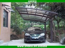modern single slope car rain shelter