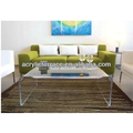 acrylic coffee table desk in bedroom or office