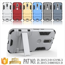 Combo TPU+PC kickstand case cover for motorola moto g4 case