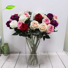 GNW FL-RS50-10CM High quality artificial love silk rose flower for decoration