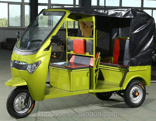 Sunshine and Rain Proof Model Eco Friendly Three Wheel Auto Rickshaw for 6 Passengers