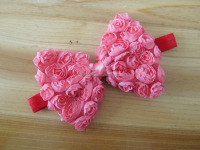 chiffon shabby flower headband for kids hair accessories