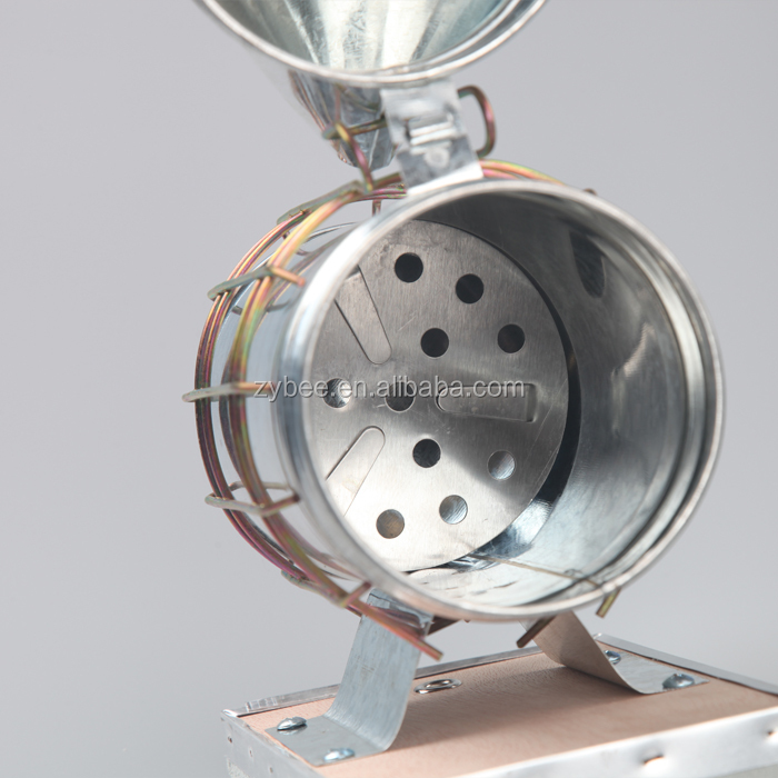 Bee Hive Galvanized bee smoker With Heat Shield Beekeeping Equipment Tool