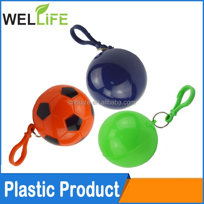 factory wholesale promotional gifts Poncho Ball with keychain Disposable LDPE Raincoat