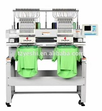 stable performance used computerized embroidery machine 2 head computer flat embroidery machine