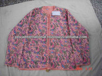 Indian Womens Handmade Cotton Coat, Quilted Jacket