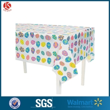 Plastic Easter Colorful Decorative Eggs Tablecloth