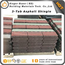 China factory directly wind resistant 3 tab roof shingles low price lamianted fiber fabric roof shingles