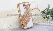 Luxury Rhinestone Diamond Crystal Bling Case For SUMSUNG S4 /I9500 Gold Side