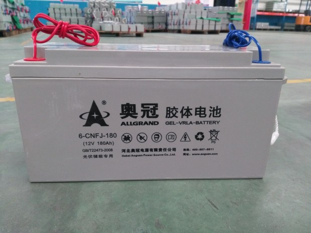 12V 180Ah Rechargeable Free-maintained GEL Lead Acid Battery for Solar Power Storage & Standby Power Supply