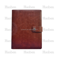 Wholesale China made leather full color binding PU leather customized spiral notebook