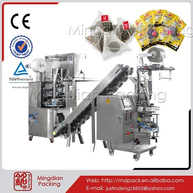 MD160 scented tea double square sachets packaging machine
