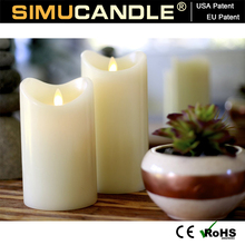 Flameless led Candle walmart 3 d set with remote with USA and EU patent