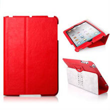 Hot sale! Clear read leather case for ipad mini, suit for europe