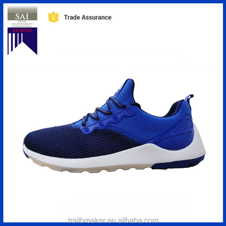 2017 New Blue Black Grey Soft Comfortable Mesh Fashion Men Casual Sport Shoes