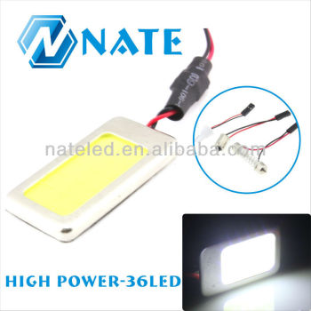 Super thin aluminum cob led dome light 42*22mm with 3M glue