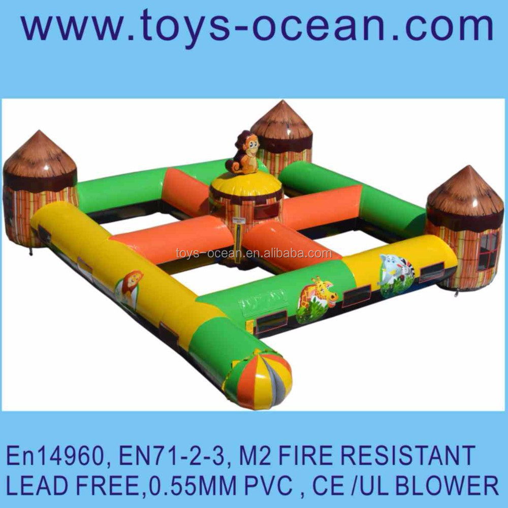 inflatable animal maze /inflatable outdoor maze /laser shooting maze