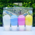 hot hanging shampoo bottle travel silicone bottle silicone travel bottle set
