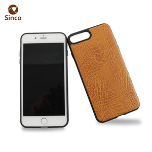 Unique crocodile pattern leather phone case pu sublimation phone cover for iphone 7 Plus