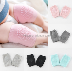 wholesale Children silicone antiskid toddlers knee support for kids Soft Fabric Cotton Knitted elastic Crawling baby Knee Pads