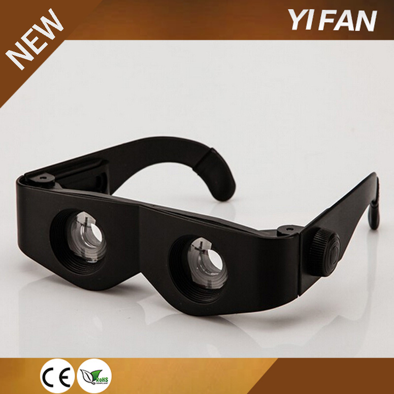 TV hot sell Zoomies hands free binoculars plastic adjustable magnifying glasses binoculars