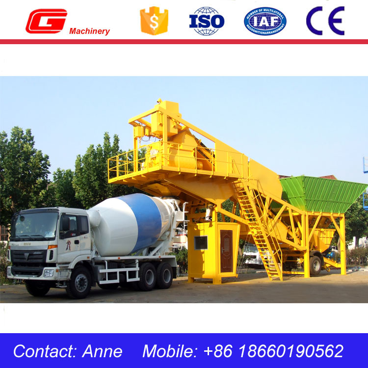 YHZS75m Mobile Ready Mixed Concrete Plant/Mini Concrete Mixing Plant