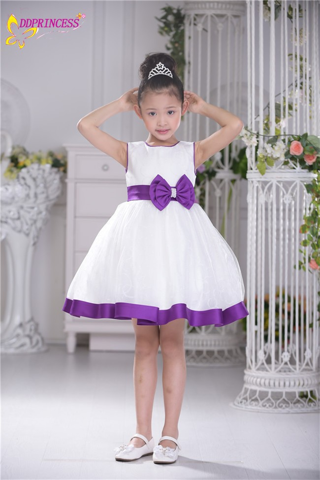 Factory Wholesale White Fairy Princess Dress Big Baby Girls Free Prom Party Dresses