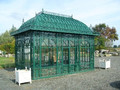 wrough iron gazebo/could change to glass roof