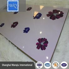 PETG laminated glossy painted design 18mm uv mdf board for furniture accessories