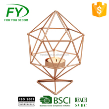 Ch-31804 2017 Fashion National Design Geometric Candle Holder, Rose Gold Tea Light Candle Holder