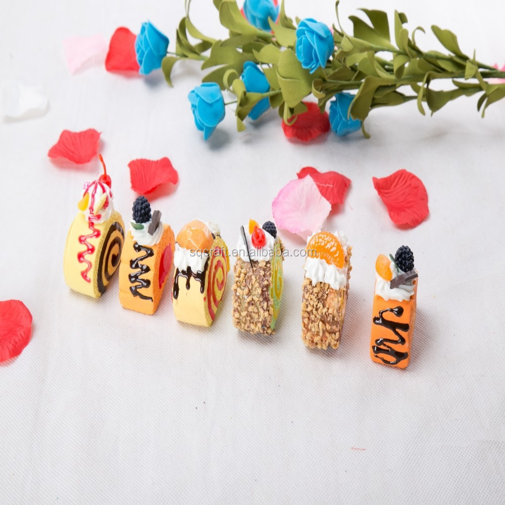 Factory price for polymer clay cake roll fridge magnet in arts and crafts/Yiwu sanqi craft factory