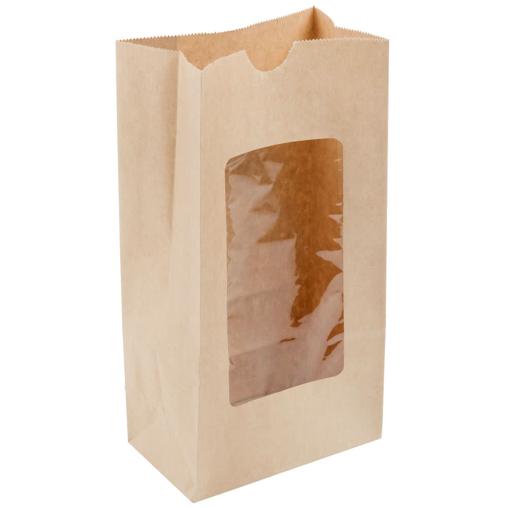 2017 Eco friendly Oil Proof Kraft Paper Bag With Clear Window