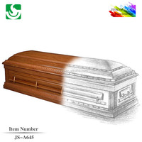 JS-A645 standard size wholesale best price cremation casket bed
