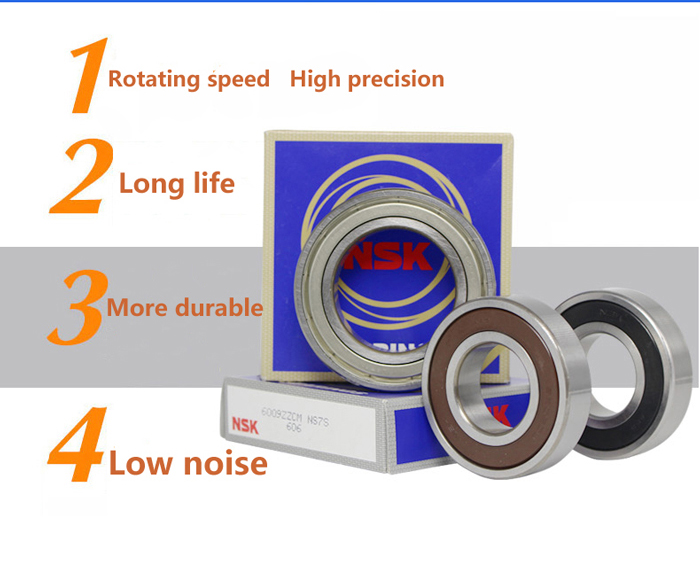 China bearing manufacturer supply size 17*40*12mm long life NSK deep groove ball bearing 6203