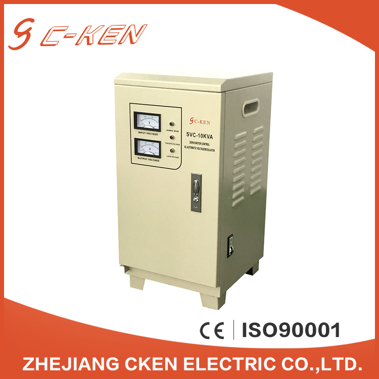 Cken CE Approved Good Price SVC 10KVA Single Phase Vertical AC Automatic Voltage Stabilizers