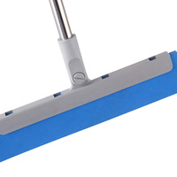 "HQ0111 blue color rubber blade 12"" plastic wiper with stick"