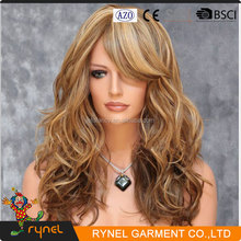 PGWG1971 Fashion Long Hair Synthetic Wig Lady's Full Lace Human Hair Wig