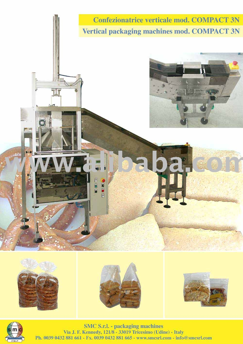 Vertical Packaging Machine Complete Of Conveyor