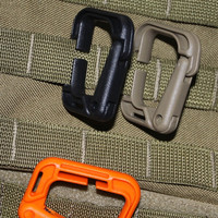 Buckle tactical outdoor Molly mountaineering bag plug-in plastic steel D buckle hang up