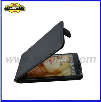 2013 Hot Selling For Sony Xperia M Slim Flip Skin Cover Leather Case Laudtec