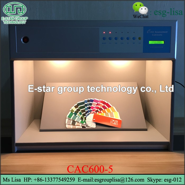 Printing Standard color assessment cabinet five Light Sources Color Matching Cabinets textile lab equipment