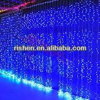 Waterfall curtain light led light up outdoor christmas decorations