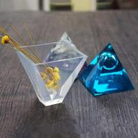 Transparent Pyramid Silicone Mould DIY Resin Decorative Craft Jewelry Making Mold Resin Molds