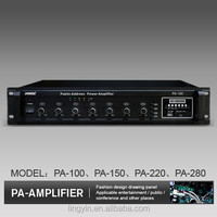 200W 4 zones pa ampifier mixer power amplifier with USB + FM+ remote control