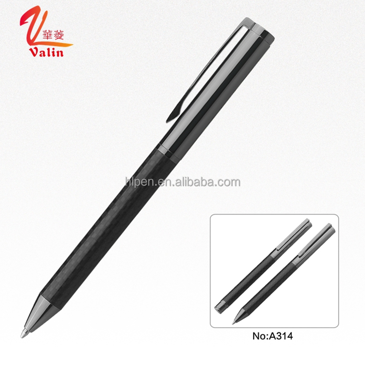 Best selling products Carbon Fiber Mont Blank ball point pens with custom logo