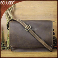 High quality shoulder genuine leather fashionable cheap laptop bags