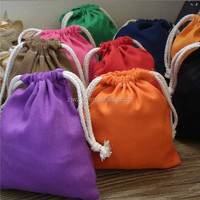 mini cotton drawstring bag/ plain canvas bags/ simple canvas bag